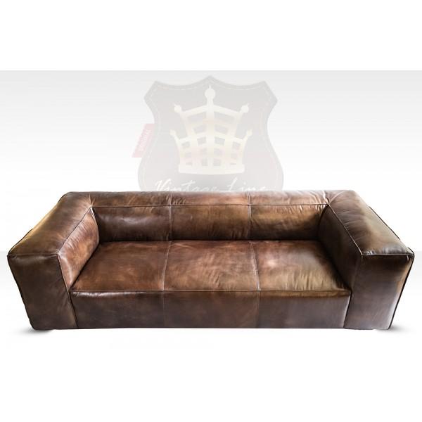 Lounge sofa sofa 3 plazas tribeca de cuero vintage muebles for Lounge mobel 2 sitzer