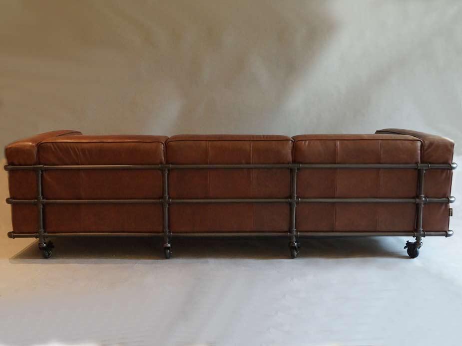 design clubsofa wakefield vc braun vintage leder stahlrohr. Black Bedroom Furniture Sets. Home Design Ideas