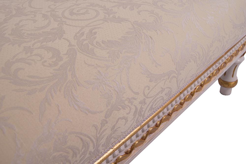 recamiere schwanendekor wei gold ottomane chaiselounge links couch ebay. Black Bedroom Furniture Sets. Home Design Ideas