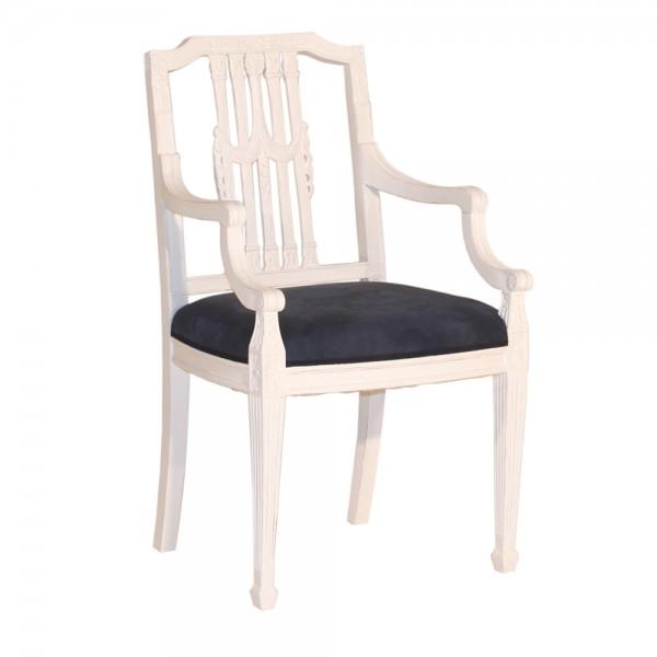 armlehnstuhl louis xvl mahagoni massiv esszimmerstuhl landhausm bel ebay. Black Bedroom Furniture Sets. Home Design Ideas