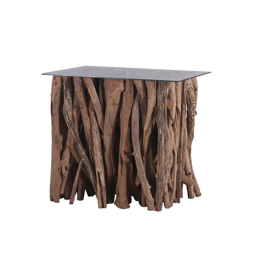 Teakholz couchtisch bistrotisch tisch beistelltisch for Beistelltisch 80 hoch