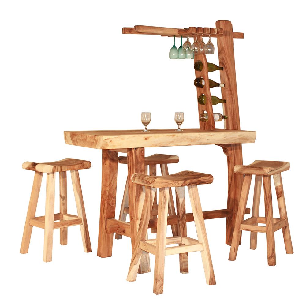 Gartenbar Teakholz Bar Gartenmöbel Möbelset Hausbar Tresen Teak   eBay