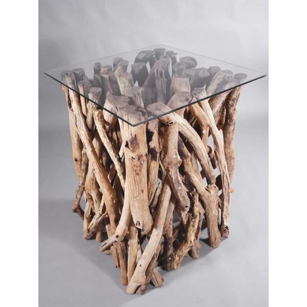 teakholz stehtisch bistrotisch tisch beistelltisch teakholz ste deko teak holz ebay. Black Bedroom Furniture Sets. Home Design Ideas